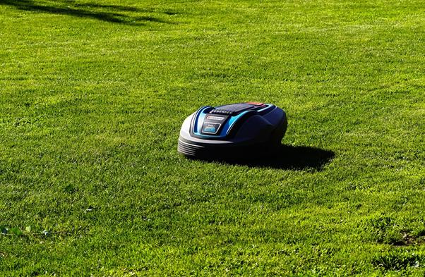 Het maaien van gras op verschillende manieren